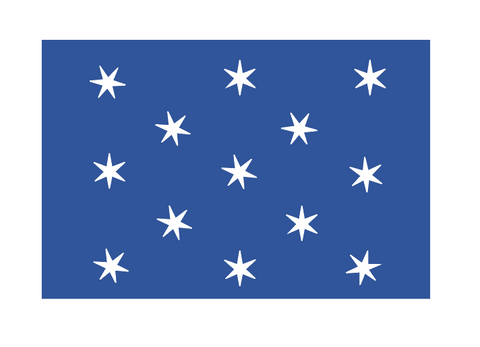 """Personal Flag of George Washington"" Sticker"
