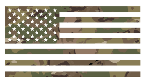 Multicam Vinyl Flag Decal