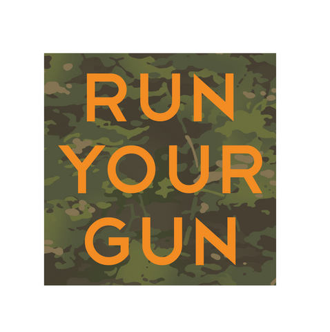 """Run Your Gun"" Sticker"
