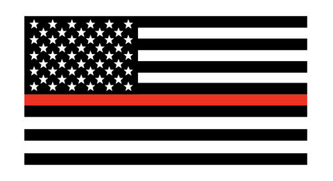 Thin Red Line Flag WITH Stars Decal