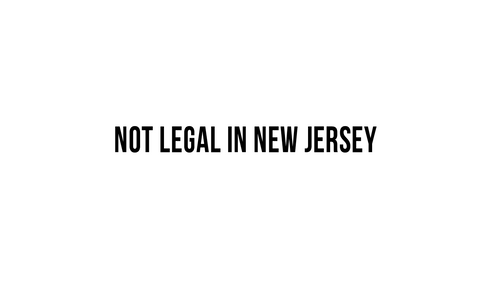 """Not Legal in New Jersey""  Decal"