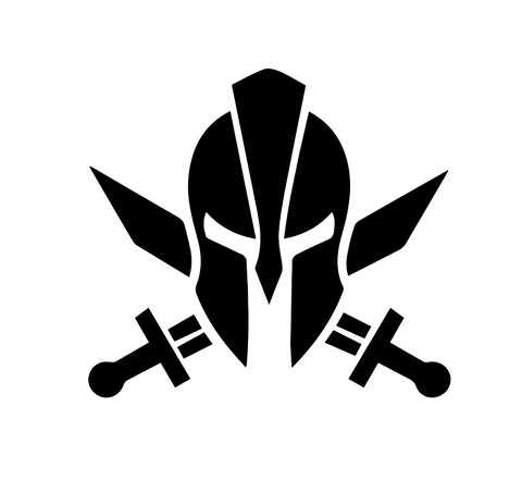 """Spartan with Swords""  Decal"