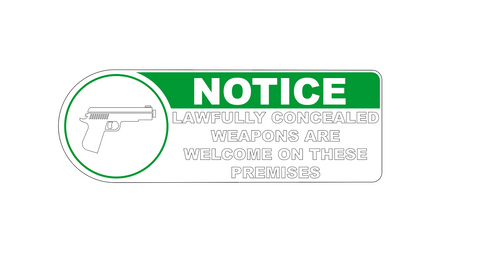 """Lawful Carry Permitted""  Decal"