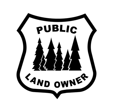 """Public Land Owner""  Decal"