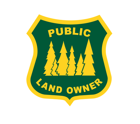 """Public Land Owner"" Sticker"