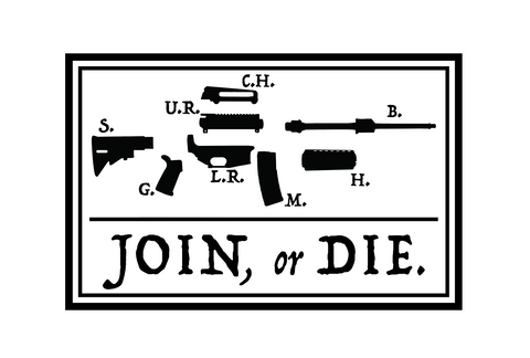 """AR Join or Die"" Sticker"