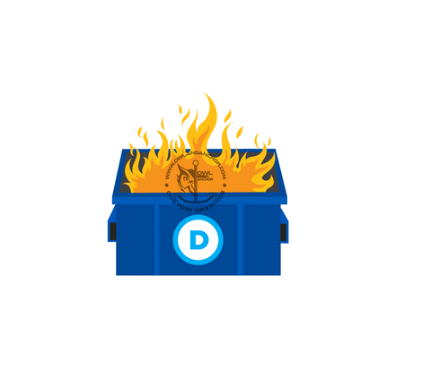 """Dumpster Fire"" Sticker"