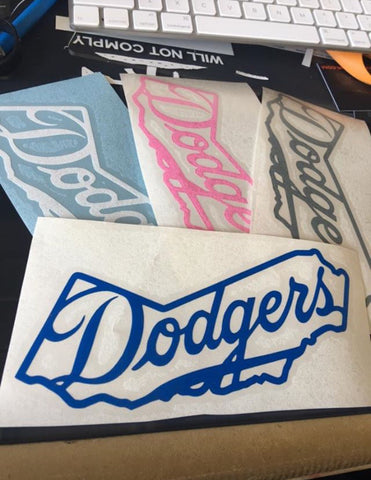 CA Dodgers decal
