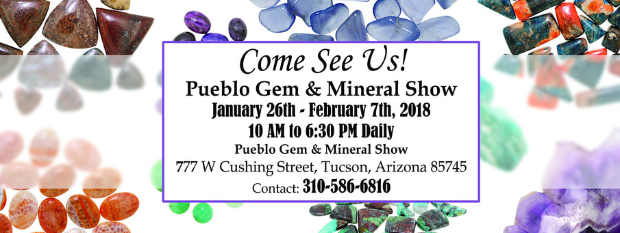 Magic Mountain Gems is at the Pueblo Gem & Mineral Show!!!