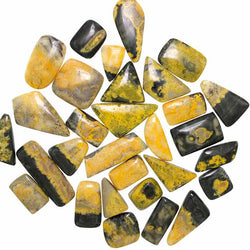 Bumble Bee Jasper in an assortment of cabochon shapes and sizes.