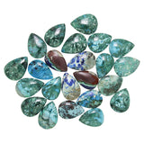 Chrysocolla-Malachite Calibrated Teardrop Cabochons - Wholesale