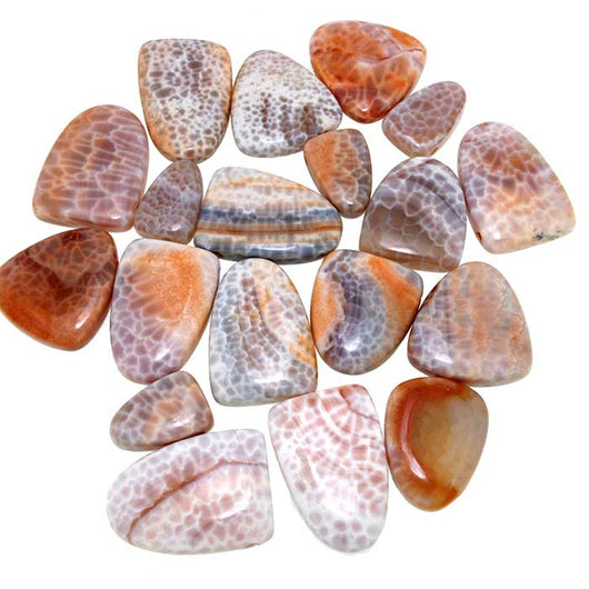 Chinese Orange Cracked Agate Slide Pendants in Assorted Sizes - Wholesale.