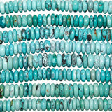 18-inch Strands of Chinese Turquoise 7 - 8mm Rondelle Beads