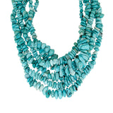 15-inch Strands of Chinese Turquoise Tumbled Beads - chip style beads graduated 3+ - 10+ mm.