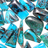 Close Up View Chrysocolla-Malachite Assorted Wholesale Cabochons.