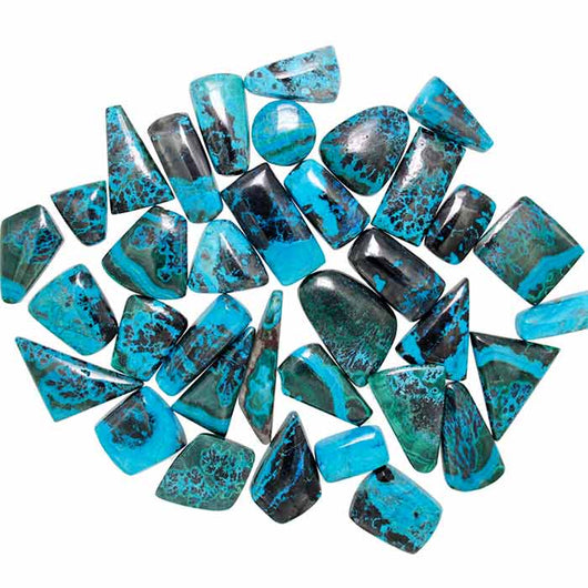 Chrysocolla-Malachite Assorted Wholesale Cabochons.