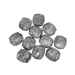 Wholesale Gibeon Meteorite Faceted Stones - 17mm x 20mm