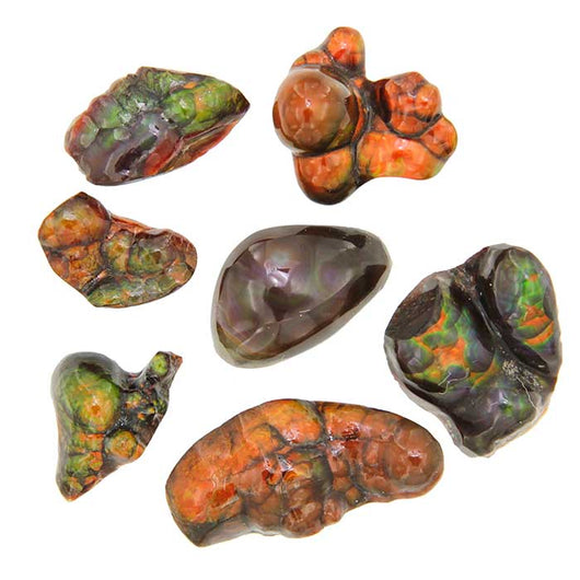 Fire Agate Free-form Cabochons - Wholesale.