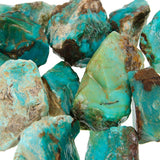 Gem Silica Rough - a bluish green chalcedony colored by copper - wholesale only.