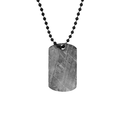 Gibeon Meteorite Large Dog Tag Necklace