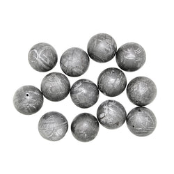 Gibeon Meteorite Round Beads - Custom Cuts Beads by Magic Mountain Gems