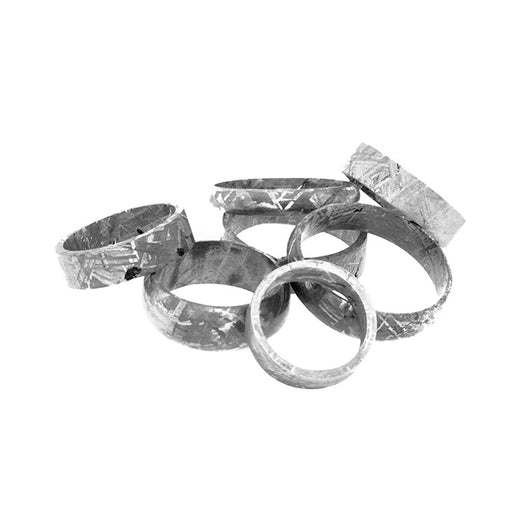 Gibeon Meteorite Rings & Ring Blanks for Inlays - Custom Cut to Order