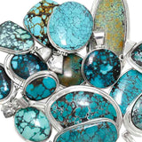 Close Up photo of Hubei Turquoise Sterling Silver Pendants - Wholesale.
