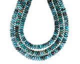 18-inch Strand of Hubei Turquoise in 12mm Rondelle Beads