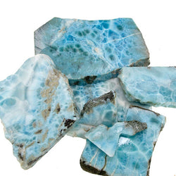 Blue Larimar Slabs from the Dominican Republic - for cutting cabochons and beads.