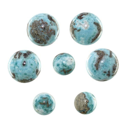 Larimar Spheres from the Dominican Republic - milled in USA.