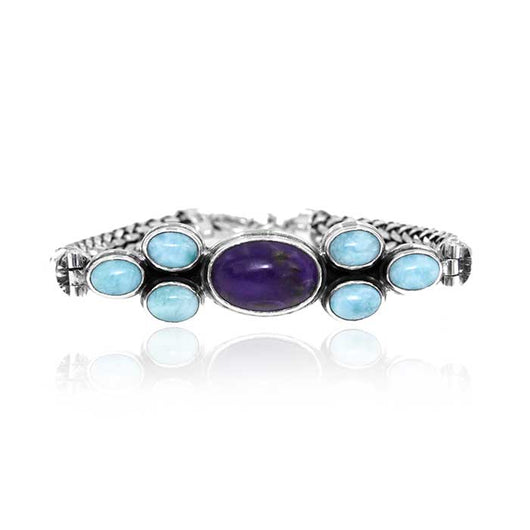 Larimar & Sugilite Sterling Silver Assorted Bracelets - Wholesale.