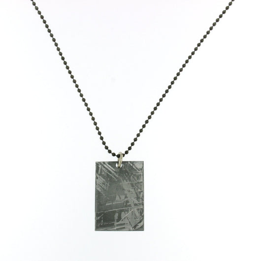Gibeon Meteorite Necklaces on 23-inch Gun Metal Ball Chain