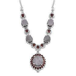 Mesmerizing Meteorite and Garnet Necklace