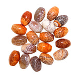Orange Cracked Agate Barrel Beads - Wholesale