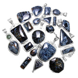 Namibian Blue Pietersite Sterling Silver Pendants - Wholesale.