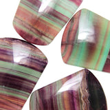 Rainbow Fluorite Flat Back Trapezoid Beads with 3mm Top Side Hole.
