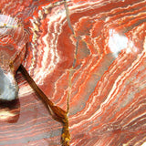 Close up photo of Wholesale Red Snakeskin Jasper Slabs – for cuting cabochons and beads.