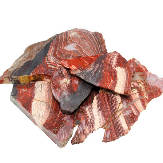Wholesale Red Snakeskin Jasper Slabs – for cuting cabochons and beads.