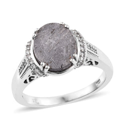 Romantic Oval Meteorite Ring