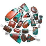 Sonora Sunset (Chrysocolla Cuprite) Sterling Silver Pendants in a variety of shapes and sizes. Wholesale.