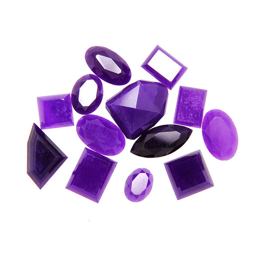 High grade Faceted Sugilite in deep, unblemished purple, beautifully showcased by the cut of each stone.