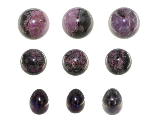 Sugilite Spheres and Egg-shaped Stones - Wholesale | Magic Mountain Gems
