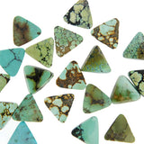 Hubei Turquoise Calibrated Cabochons - Triangles.