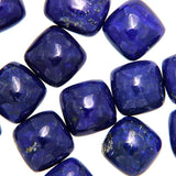 Close Up View of Lapis Lazuli Calibrated Square Cabochons - Wholesale.
