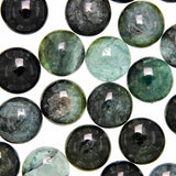 Tourmaline - Green Calibrated 15 mm Round Cabochons