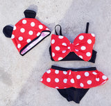 Oh Sweet Minnie: Mini 2-piece Bikini Set - Little Mr & Mrs Cheeky Pty Ltd