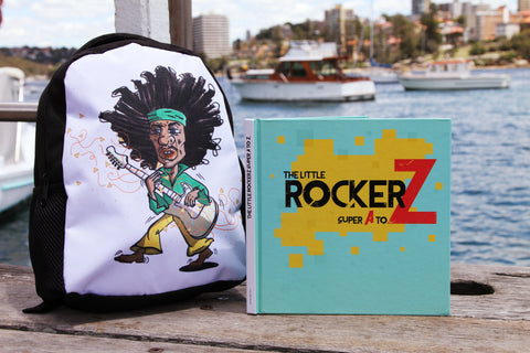 RockerZ Set 2: Little RockerZ Kids Book + Rockstar Backpack - Little Mr & Mrs Cheeky Pty Ltd
