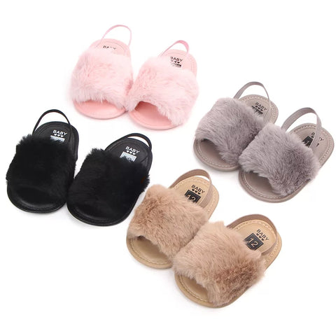 Furry Slippers - Baby - Little Mr & Mrs Cheeky Pty Ltd