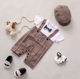 Little Mr Dapper: Romper Set - Little Mr & Mrs Cheeky Pty Ltd