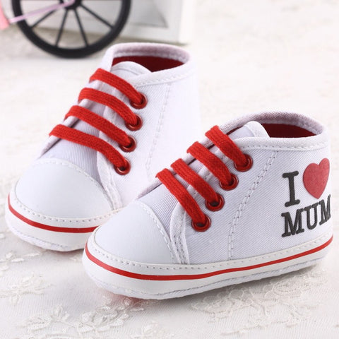 """I LOVE MUM"" High Top Booties - Little Mr & Mrs Cheeky Pty Ltd"